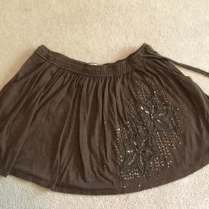 American Eagle Floral Beaded Skirt